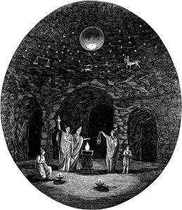 Ancient Greek initiation rites included a 'Night Journey,' a ritualised form of chthonic descent, or katabasis, an atavistic experience, apparently carried out in actual caverns or catacombs.