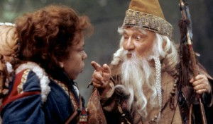 Willow meets with the village sorcerer, his mentor, to get advice before he sets out on his perilous quest.