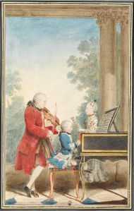 Everyone starts somewhere, even musical prodigies. Mozart's earliest compositions were vetted and criticized by other musicians, and the young composer was surrounded each day by music.
