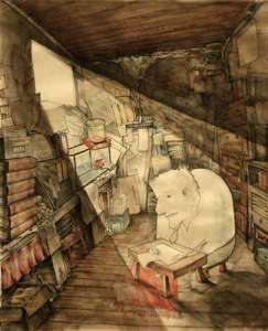 Florence Ma. The Writer's Cage. Grade 12, Age 17. 2012 Gold Medal, Drawing