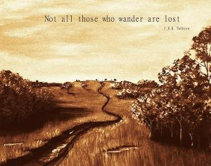 Nothing wrong with being lost.